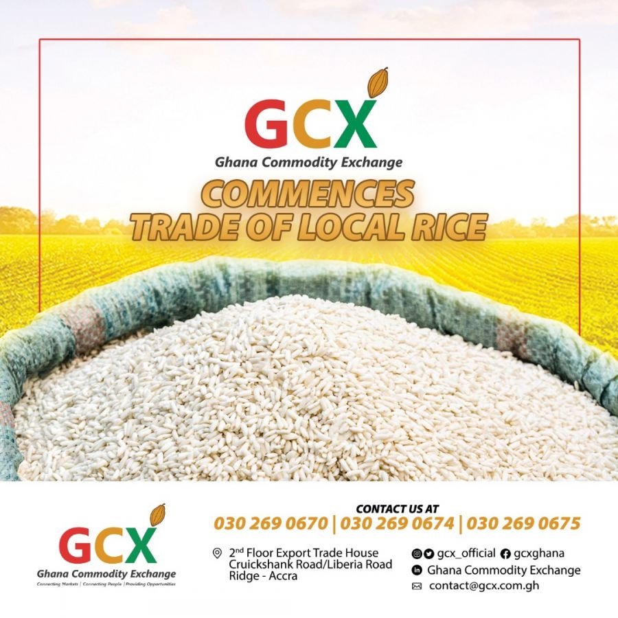 GCX Commences Trade of Local Rice. image