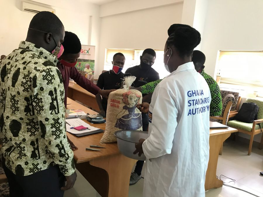 GHANA COMMODITY EXCHANGE FIELD STAFF TRAINED ON GRAIN GRADING BY GHANA STANDARDS AUTHORITY image