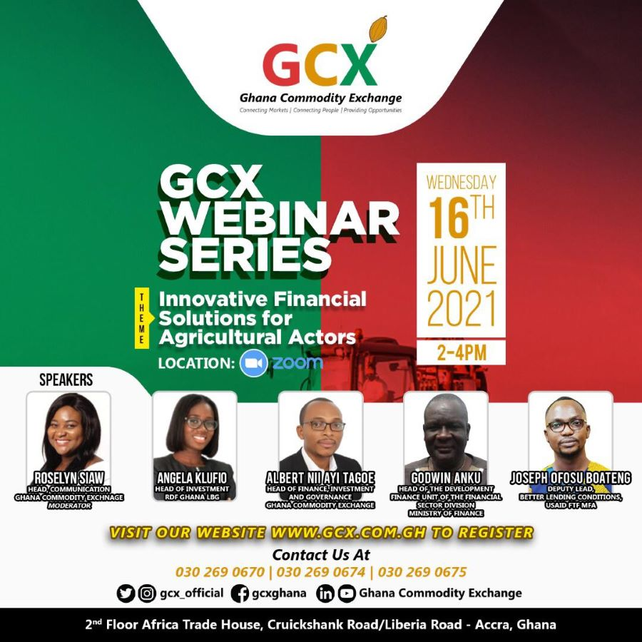 GCX Webinar Series: Innovative Financing Solutions for Agricultural Actors image